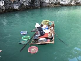 pescador bahía de haolng