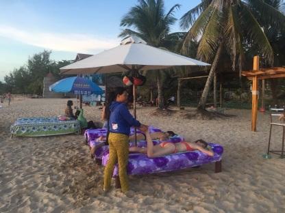 masaje en la playa